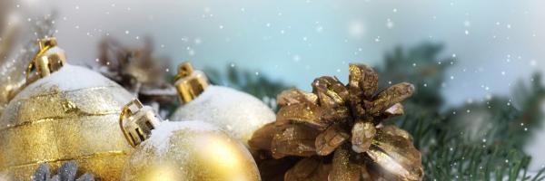 Julkulor i guld