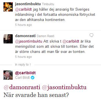 Carl Bildt och Jason Timbuktu