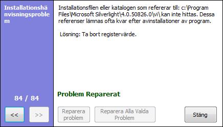 Reparation av registret klart