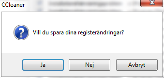 Spara registerändringar