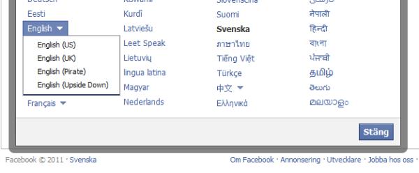 FB språk