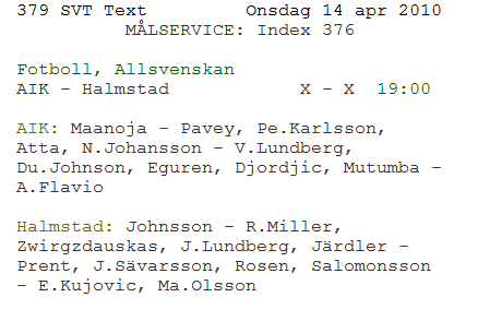 Text TV typ