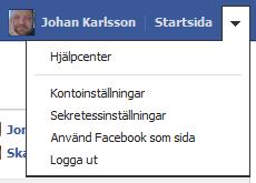 Facebook meny