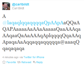 Carl Bildt fylletwittrar