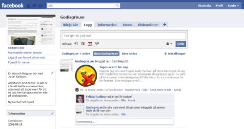 Godisgris.se på Facebook