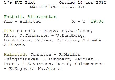 Text TV typ