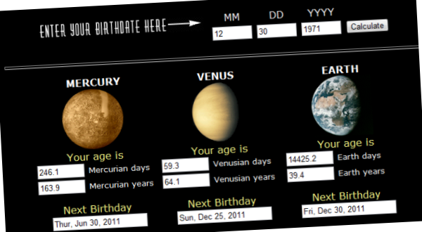 Your Age On Other Worlds